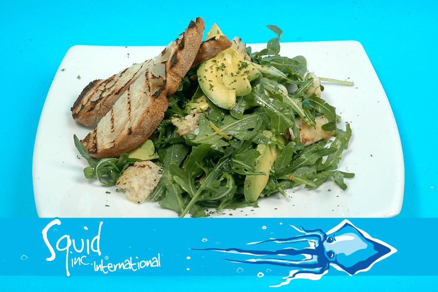 Squid Inc Int. 028-Avocado-Calamari-Rocket-Salad